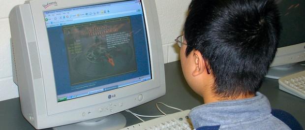 компьютер, подросток