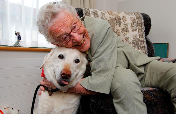 пожилые люди, домашние животные