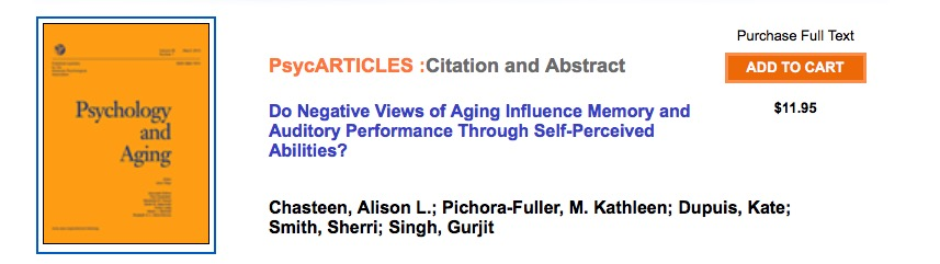 Chasteen A. L. et al. Do Negative Views of Aging Influence Memory and Auditory Performance Through Self-Perceived Abilities? //Psychology and aging. – 2015.