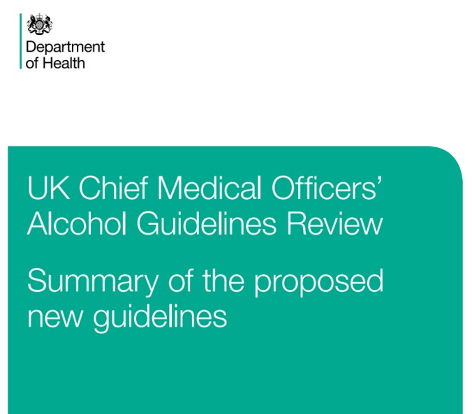 UK Department of Health, UK Chief Medical Officers' Alcohol Guidelines Review: Summary of the proposed new guidelines, published January 2016.
