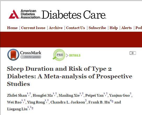 Сон, диабет, Diabetes Care,