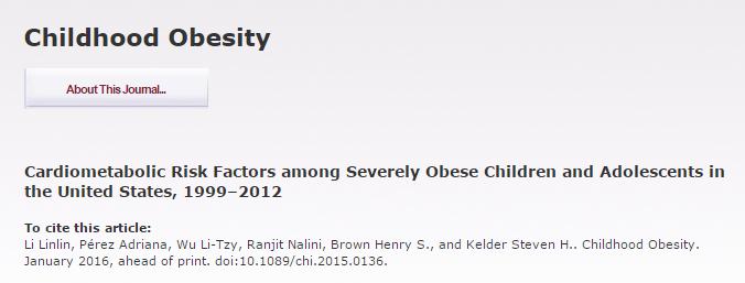 Подростки, ожирение, Childhood Obesity