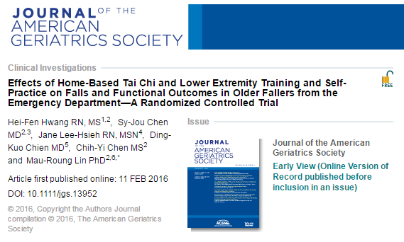 Journal of the American Geriatrics Society, артериальное давление, тай-чи,