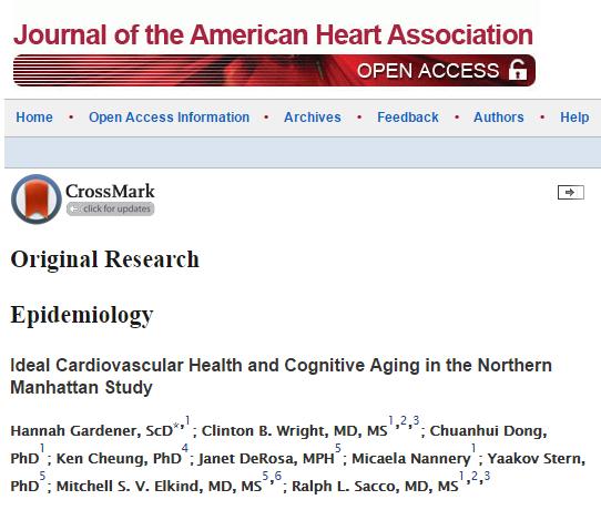 American Heart Association, сердечно-сосудистые заболевания, когнитивные функции