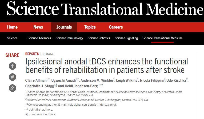 инсульт, Science Translational Medicine