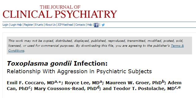 агрессия, Journal of Clinical Psychiatry