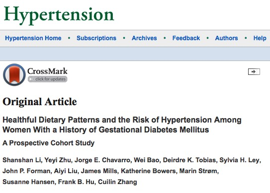 гестационный диабет, Hypertension