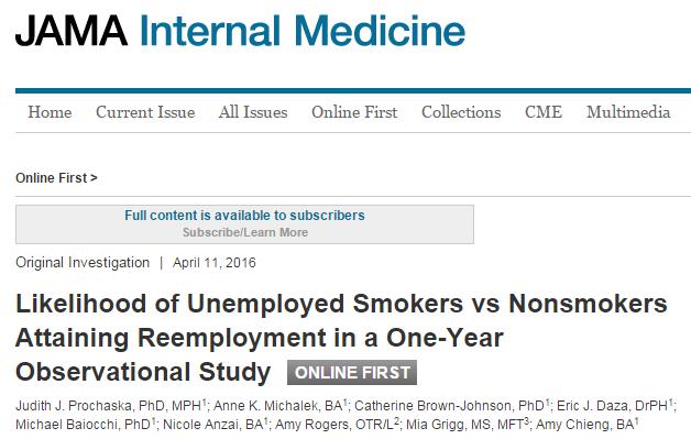 курение, JAMA Internal Medicine