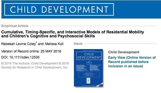учеба, Child Development