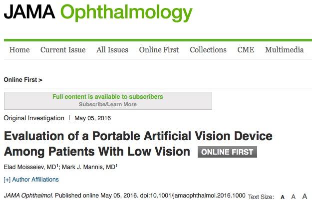слепота, JAMA Ophthalmology