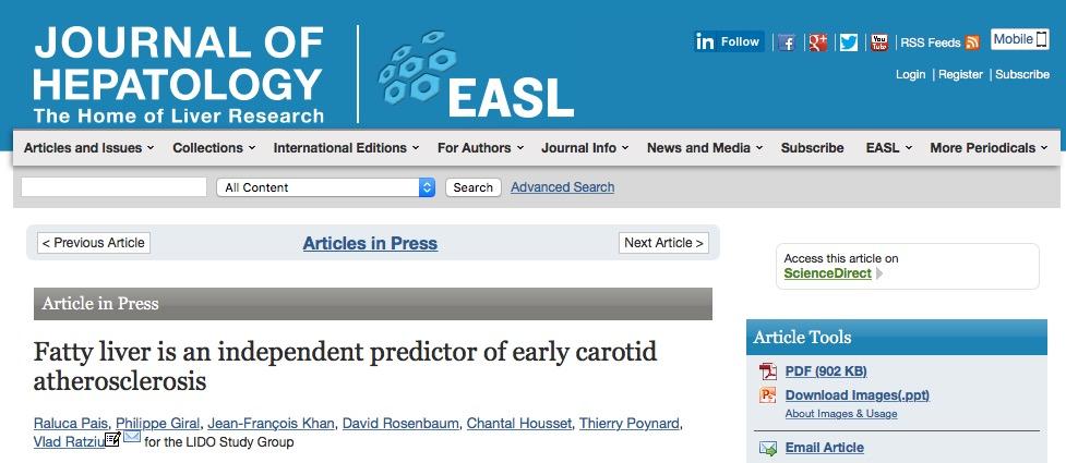 НАЖБП, сердечно-сосудистые заболевания, Journal of Hepatology