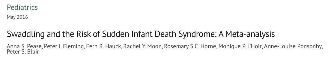 пеленание, дети, синдром внезапной детской смерти, Pediatrics