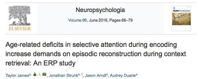 пожилые люди, Neuropsychologia