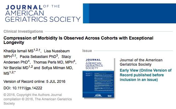 старение, Journal of the American Geriatrics Society
