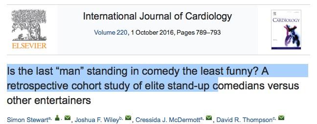 камеди, International Journal of Cardiology