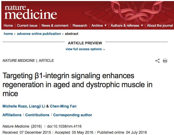 старение, Nature Medicine