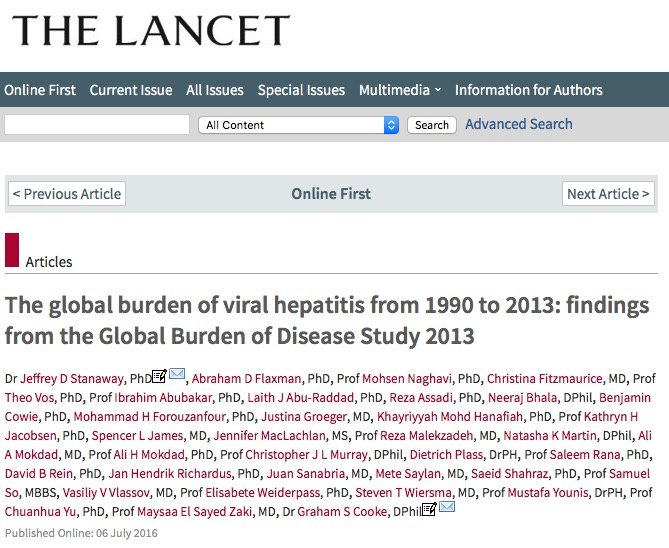 гепатит, The Lancet