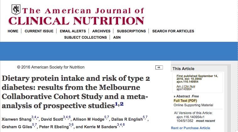 Белковая диета, диабет 2 типа